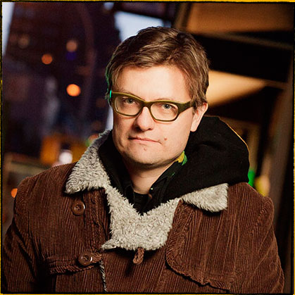 James Urbaniak as Mr. Wandell and the Art Director